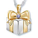 Grandma's Greatest Gift Personalized Birthstone Pendant Necklace