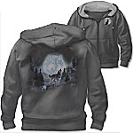 Al Agnew Wolf Pack Men's Easy-Care & Cotton Knit Blend Hoodie