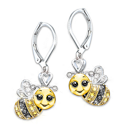 Granddaughter, Always Bee Yourself Crystal Earrings