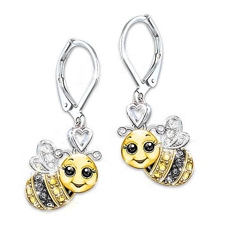 Granddaughter, Always Bee Yourself Crystal Earrings