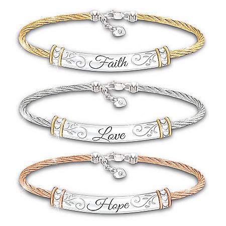 Guiding Words Of Inspiration Women's Bracelet Set