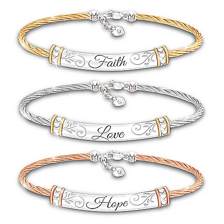 Guiding Words Of Inspiration Women's Bracelet Set