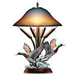 Lake View Masterpiece Sculpted Mallard Duck Lamp