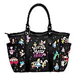 Disney Alice In Wonderland We're All Mad Here Women's Shoulder Tote Handbag