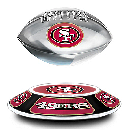 San Francisco 49ers Illuminated Levitating NFL Football Sculpture