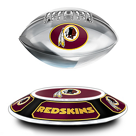 Washington Redskins Illuminated Levitating NFL Football Sculpture
