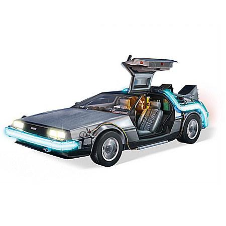 Back To The Future Illuminated Time Machine Sculpture