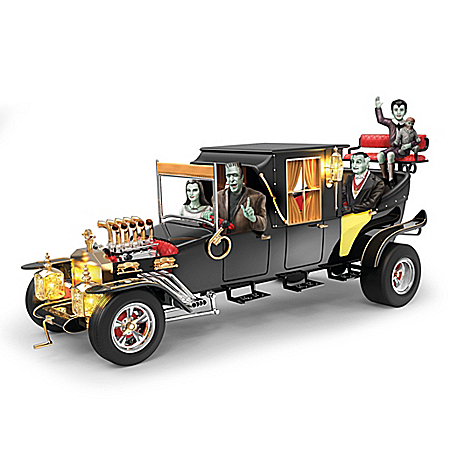 The Munsters Family Hearse-Inspired Koach Musical Sculpture by The Bradford Exchange Online - Lovely Exchange