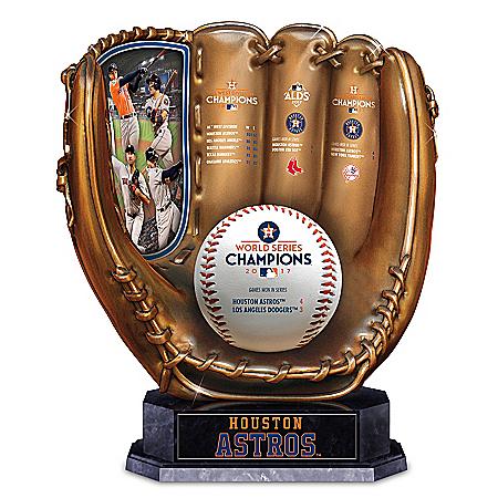 2017 World Series Champions Astros Bronze Baseball Glove Sculpture: 1 of 10000