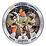 2017 MLB World Series Champions Houston Astros Heirloom Porcelain Collector Plate
