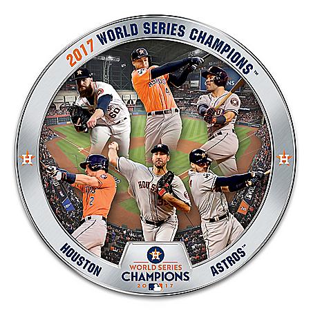 Houston Astros 2017 World Series Champions Commemorative Plate: 1 of 10000
