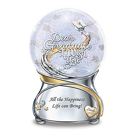 Graduate, I Wish You Personalized Musical Glitter Globe – Graduation Gift Ideas