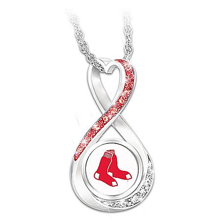 Boston Red Sox 2018 World Series Champions Infinity Pendant