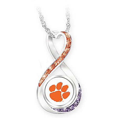 Clemson 2018 Football National Champions Infinity Pendant