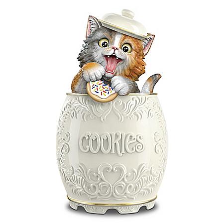 Kayomi Harai The Purr-fect Treat Ceramic Cookie Jar