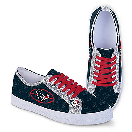 Houston Texans Women's Shoes With Glitter Trim