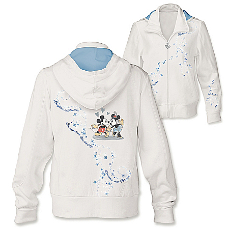 Disney Dream Wish Believe Women's Front-Zip Hoodie