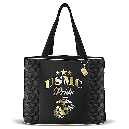Military Pride Women's Marine Corps Quilted Tote Bag