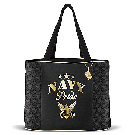Military Pride Women's Navy Quilted Tote Bag