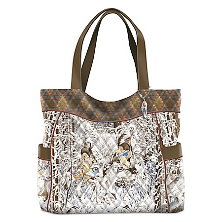 Creative Expressions Guiding Spirits Of The Wilderness Women's Quilted Tote Bag by The Bradford Exchange Online - Lovely Exchange