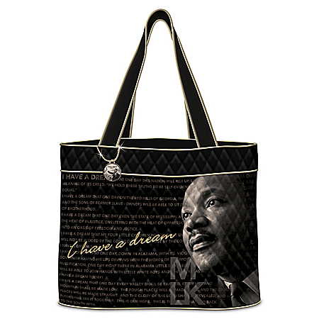 Martin Luther King Jr. Women's Quilted Tote Bag