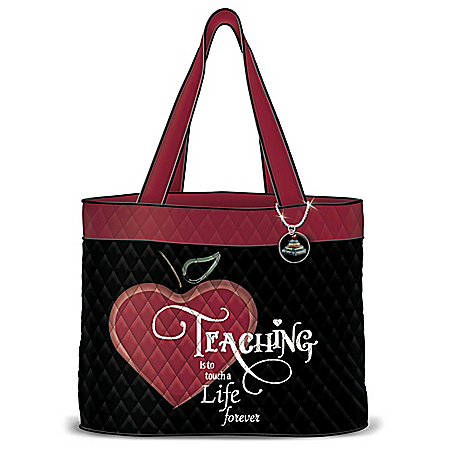 To Touch A Life Forever Women's Quilted Tote Bag by The Bradford Exchange Online - Lovely Exchange