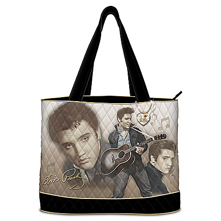 Elvis Burning Love Women's Quilted Tote Bag