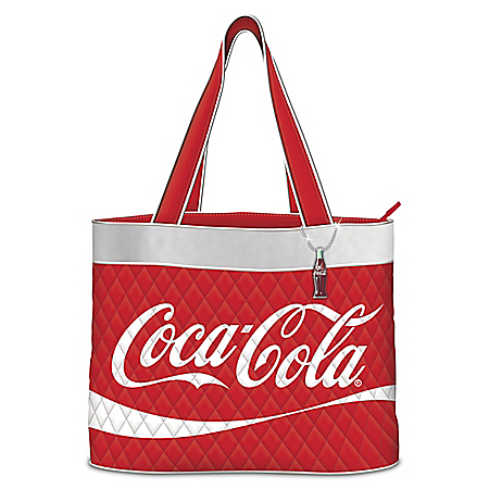 COCA-COLA Women's Quilted Tote Bag by The Bradford Exchange Online - Lovely Exchange