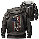 All Gave Some Men's Patriotic Cotton Blend Hoodie