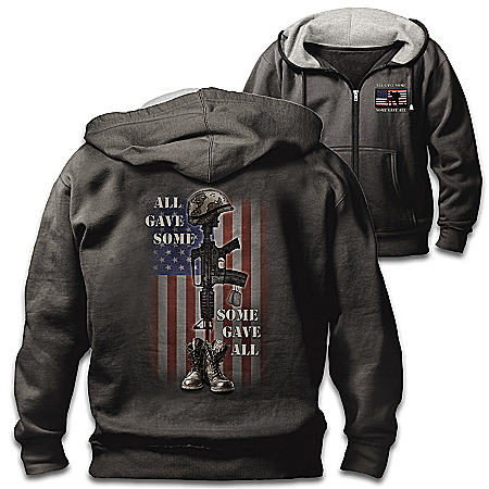 All Gave Some Men's Patriotic Cotton Blend Hoodie by The Bradford Exchange Online - Lovely Exchange