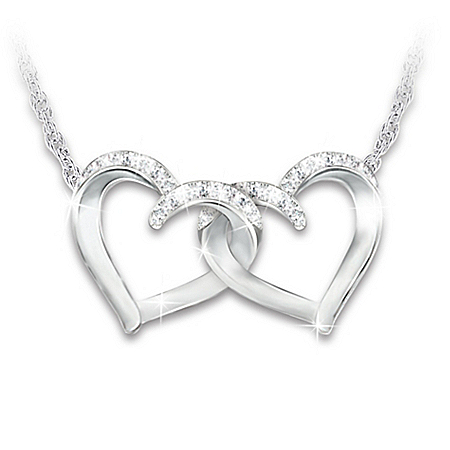 Close At Heart Women's Interlocking Heart-Shaped Necklace
