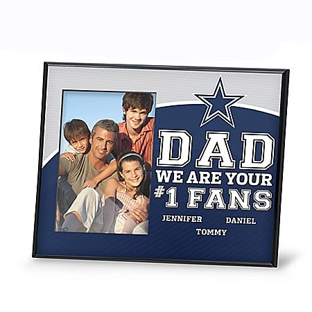 Dad's Fans Personalized NFL Picture Frame: Choose Your Team