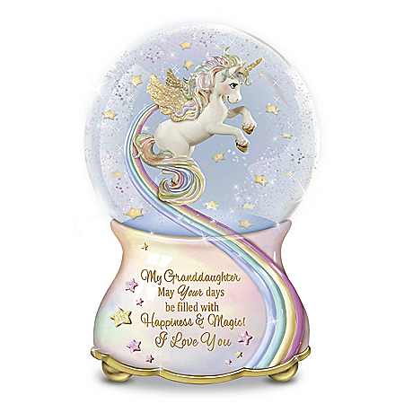My Granddaughter, You Are Magical Musical Glitter Globe