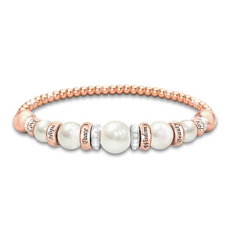 Pearls Of Serenity Women's Healing Bracelet
