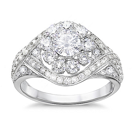 Royal American Rose Diamonesk Ring by The Bradford Exchange Online - Lovely Exchange