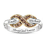 Always & Forever Women's Personalized Mocha Diamond Ring