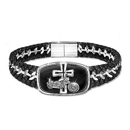 Blessings For The Road Engraved Stainless-Steel Bracelet
