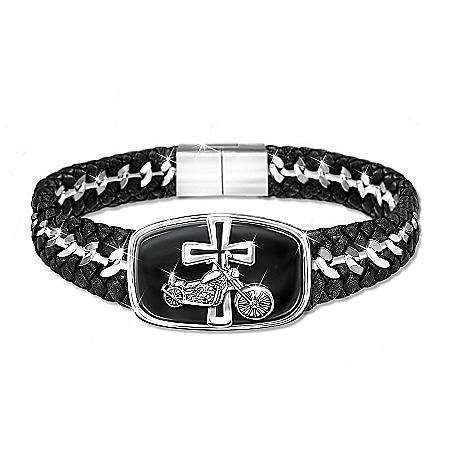 Blessings For The Road Engraved Stainless-Steel Bracelet