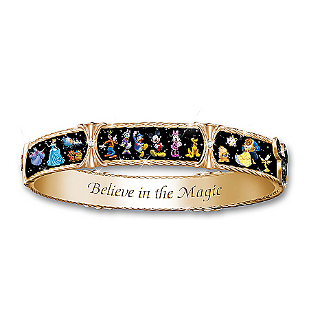 Ultimate Disney Women's 18K Gold-Plated Bangle Bracelet