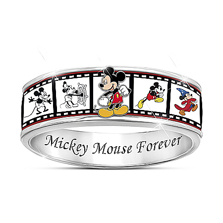 Disney Mickey Mouse Forever Women's Spinning Ring