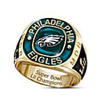 Philadelphia Eagles Super Bowl LII Champions Men's Personalized Commemorative NFL Fan Ring