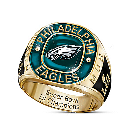 Philadelphia Eagles Super Bowl LII Champions Men's Personalized Commemorative NFL Fan Ring