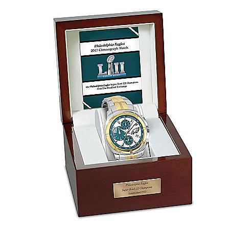 Super Bowl LII Champions Philadelphia Eagles  Tribute Chronograph Men's Watch