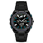 It's Philadelphia Eagles Time! Men's NFL Stainless Steel Ani-Digi Watch