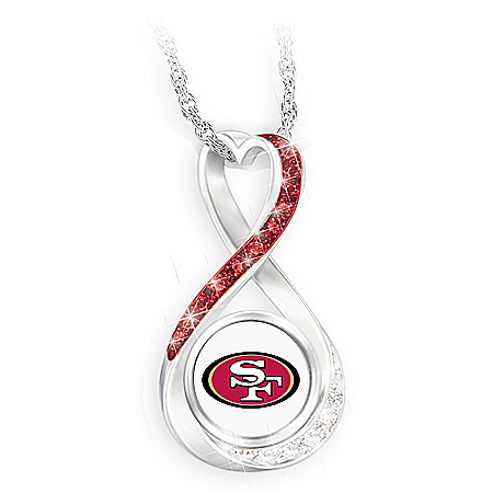 San Francisco 49ers Forever Infinity Pendant Necklace