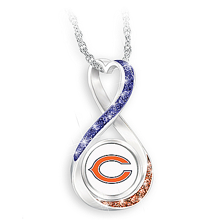 Chicago Bears Forever Infinity Pendant Necklace