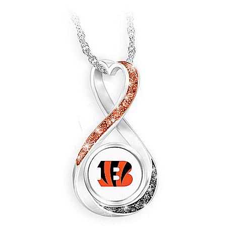 Cincinnati Bengals Forever Infinity Pendant Necklace