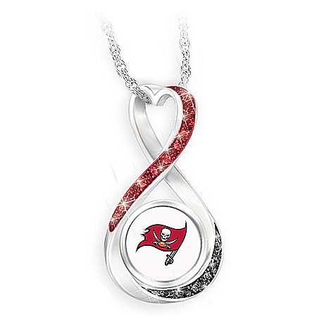 Tampa Bay Buccaneers Forever Infinity Pendant Necklace