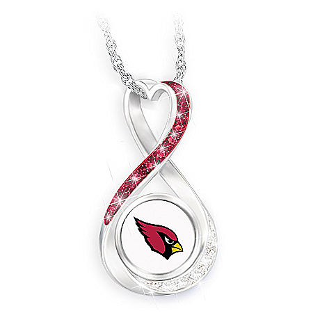 Arizona Cardinals Forever Infinity Pendant Necklace