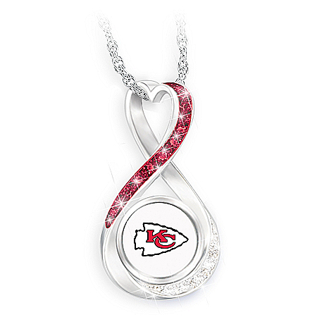 Kansas City Chiefs Forever Infinity Pendant Necklace